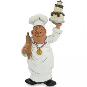 Banketbakker met taart beeldje Warren Stratford 5302