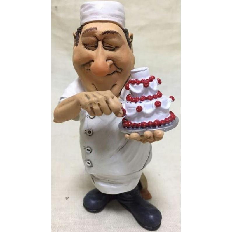 Banketbakker met taart beeldje Warren Stratford 6080