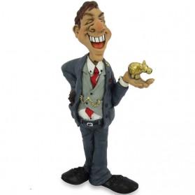 Bankier beursmakelaar beeldje Warren Stratford 8081