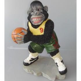 Basketbal spelende gorilla beeldje