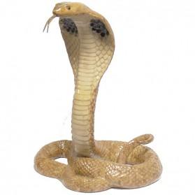 Beeldje van aanvallende cobra van porselein