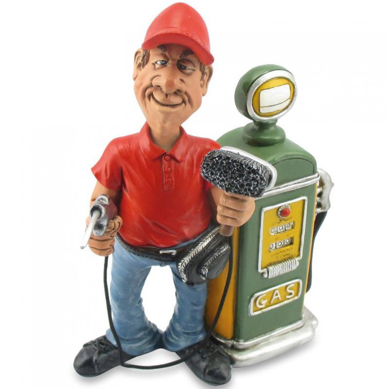 Benzinepomp medewerker beeldje van Warren Stratford 1959
