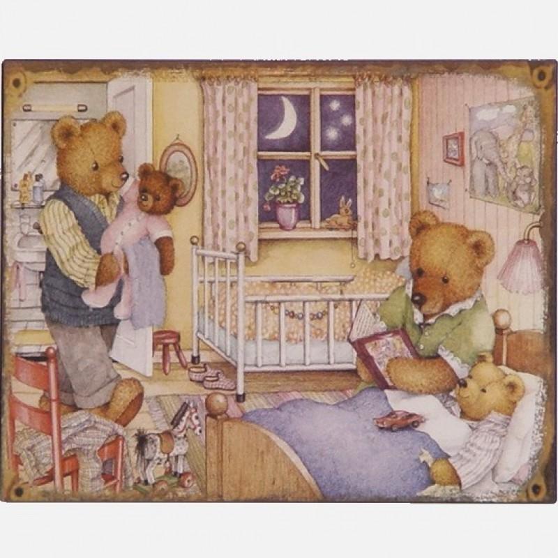 Berenfamilie decoratie bordje - Decoratie bed ...