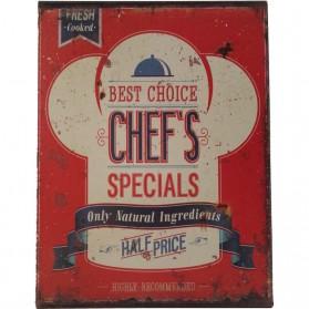 Best choice Chefs specials blikken decoratie bordje sl037