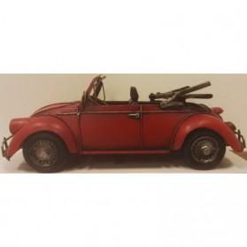 Volkswagen Kever cabriolet rode blikken auto slvw1