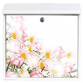 Bloemen - rose veldbloemen op brievenbus - ook eigen foto mogelijk
