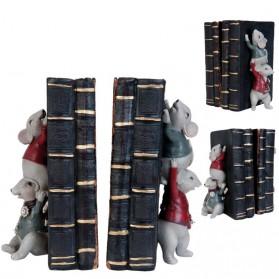 Boekensteunen set met vier vrolijk geklede muizen 1390rp6