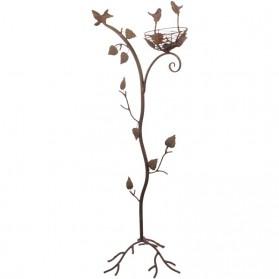Boom met vogelnestje - ijzer - tuindecoratie - 93cm hoog