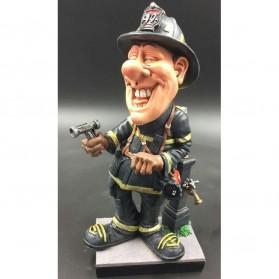 Brandweerman beeldje Warren Stratford 25cm 200w