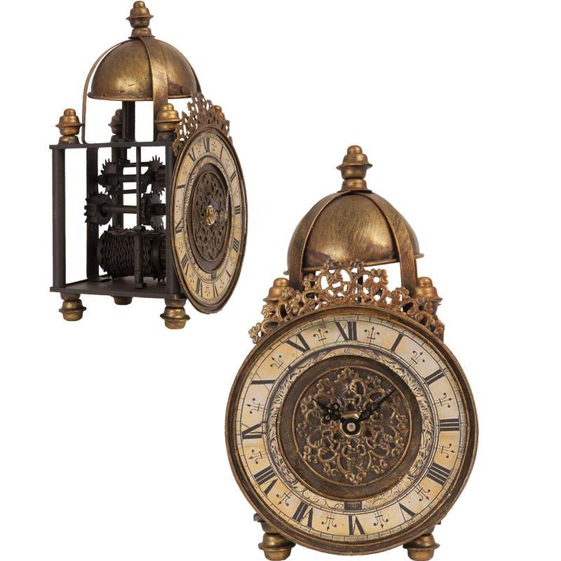 Beste Bronskleurige ijzeren staande ouderwetse klok 4220lk6 TI-64