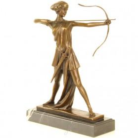 Bronzen beeldje Diana godin van de jacht 80zk