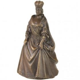 Bronzen tafelbel van een prominente dame - koningin 31tj