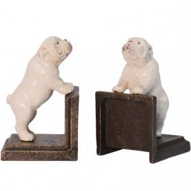 Bulldog boekensteunen van gietijzer 66gn