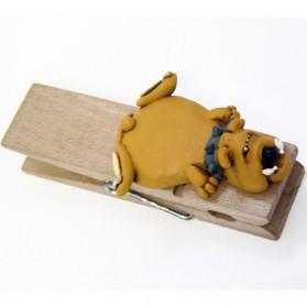 Bulldog op memo wasknijper Paolo Chiari pc3351