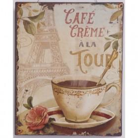 Cafe creme a la tour koffie decoratie bordje 581sn