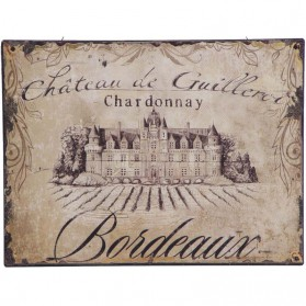 Bordeaux Chardonnay decoratie bordje wijn