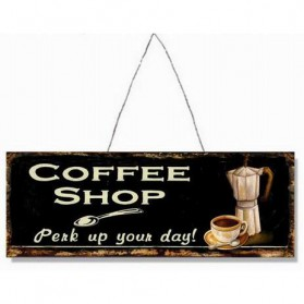 Coffee shop perk up your day decoratie bordje 110sn