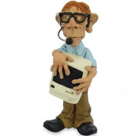 Computerexpert - nerd beeldje van Warren Stratford 7102