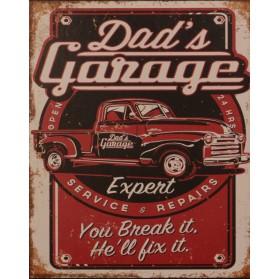 Dads garage blikken wanddecoratie 74tn