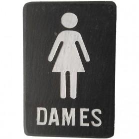 Dames toilet bordje voor horeca van leisteen 300pd
