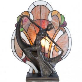 Dansende vrouw voorzien van Tiffany lamp 3875ll5
