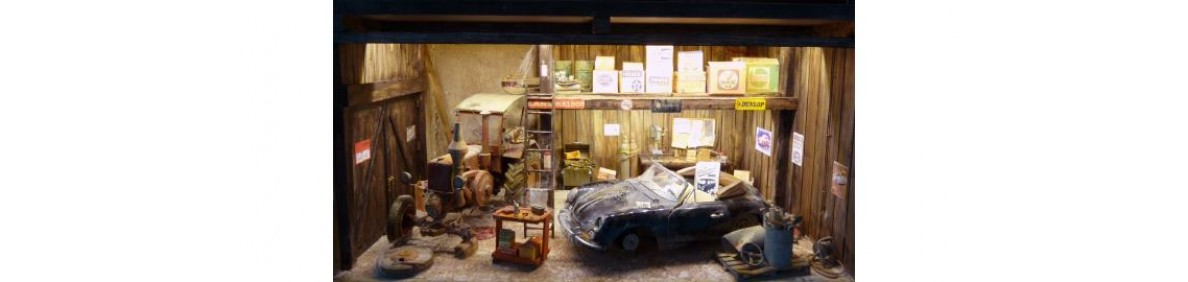 Nu ook een garage diorama voor uw klassieker mogelijk zowel auto als motor