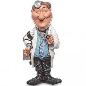 Dokter - Huisarts - beeldje - beroepen - funny jobs - warren stratford - 10x7.5x20.5cm