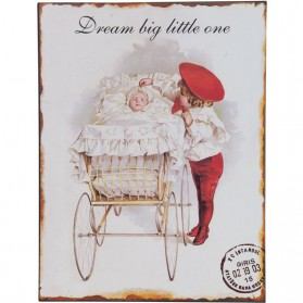 Dream big little one decoratiebordje 92136
