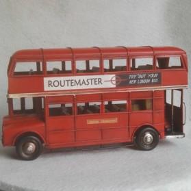 Dubbeldekker - Londen - blik - woondecoratie - rood - 32x10x18cm