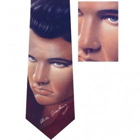Elvis stropdas met voorbedrukte handtekening - Ralph Marlin