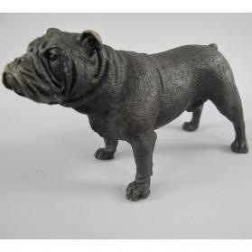 Engelse bulldog - beeldje - brons - 13x6x8cm