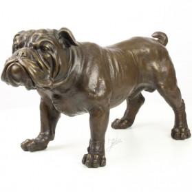 Engelse bulldog brons beeldje 09yy