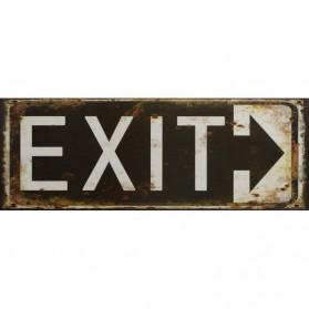 Exit blikken decoratiebordje