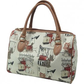 Fashion dog - kleine weekendtas gobelin