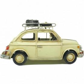 Fiat 500 wit blikken auto