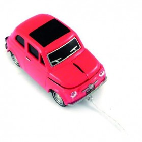 Fiat 500 computermuis in rood en wit