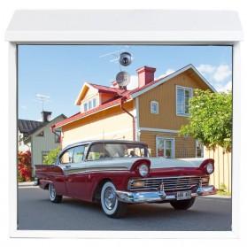 Ford Fairlane 500 Town uit 1957 op brievenbus sub016