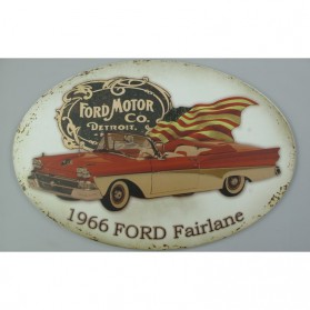 Ford Fairlane uit 1966 blikken decoratie bordje 710723
