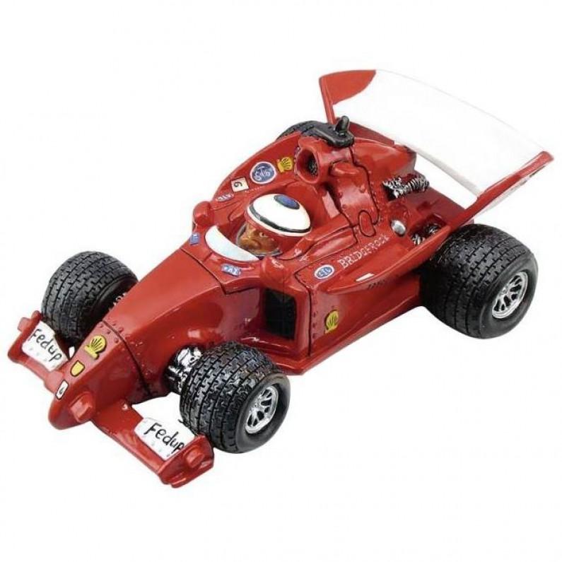 Formule 1 auto beeldje en spaarpot van Warren Stratford 356
