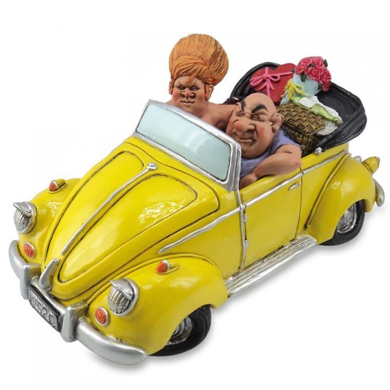 Gele Volkswagen Kever spaarpot van Warren Stratford 45606