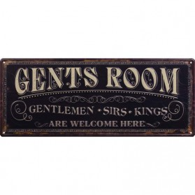 Gents Room decoratie bordje