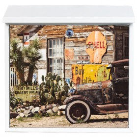 Ghost Town foto op stalen brievenbus - ook eigen foto mogelijk