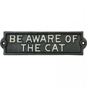Be aware of the cat gietijzeren bordje van Clayre and Eef