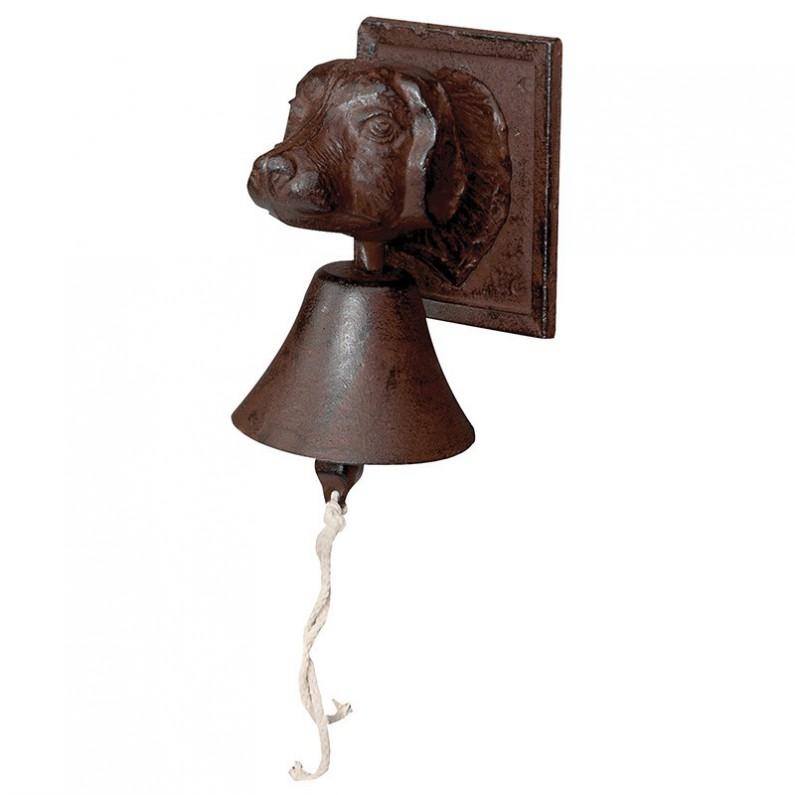 Gietijzeren deur bel honden kop 33bd