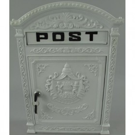 Gietijzeren brievenbus nu ook in wit gr386