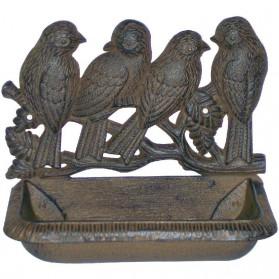 Gietijzeren vogelbakje met vogels 520ay