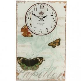 Glazen klok papillon vlinders Clayre and Eef