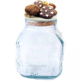 Glazen koekjespot met koekjes erop van Nadir 15nd04