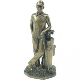 Golfer bronskleurig beeldje