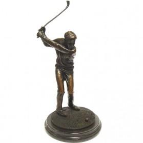 Golfer bronzen beeld